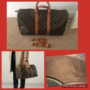 💯 authentic LV keepall 45